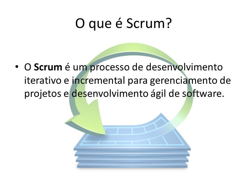 O que é Scrum? O Scrum é um processo de desenvolvimento iterativo e incremental para gerenciamento de projetos e desenvolvimento ágil de software.