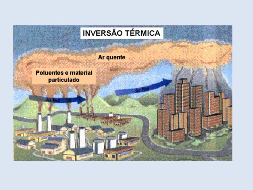 A inversão térmica é um fenômeno atmosférico muito comum nos grandes centros urbanos industrializados, sobretudo naqueles localizados em áreas cercadas por serras ou montanhas.