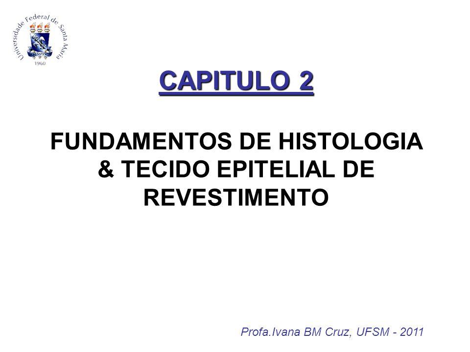 Profa.Ivana BM Cruz, UFSM - 2011 CAPITULO 2 CAPITULO 2 FUNDAMENTOS DE HISTOLOGIA & TECIDO EPITELIAL DE REVESTIMENTO