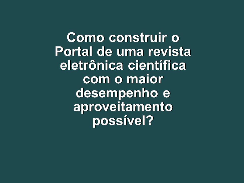 1997 A Scientific Electronic Library Online - SciELO é uma biblioteca eletrônica que abrange uma coleção selecionada de periódicos científicos brasileiros.