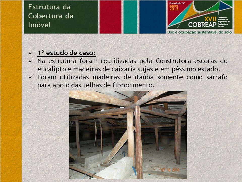 Conclusões sobre os danos ocorridos Estrutura da Cobertura de Imóvel Diminuição considerável do patrimônio material.
