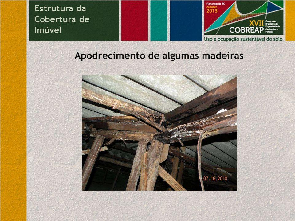 Utilização de madeiras inadequadas para estrutura de cobertura Estrutura da Cobertura de Imóvel