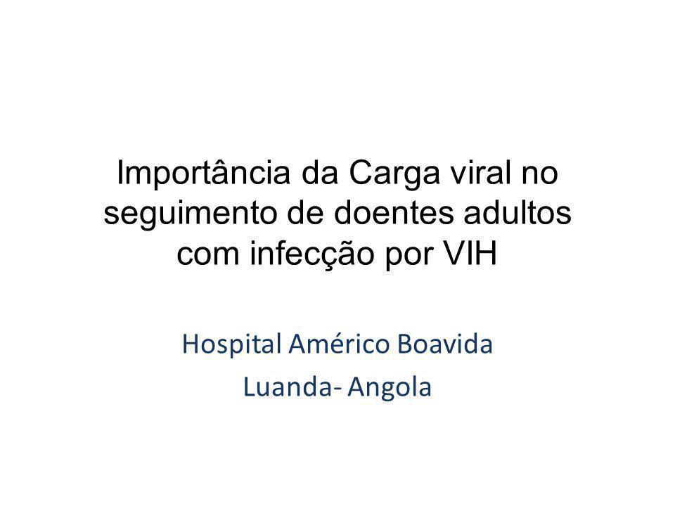 Importância da Carga viral no seguimento de doentes adultos com infecção por VIH Hospital Américo Boavida Luanda- Angola