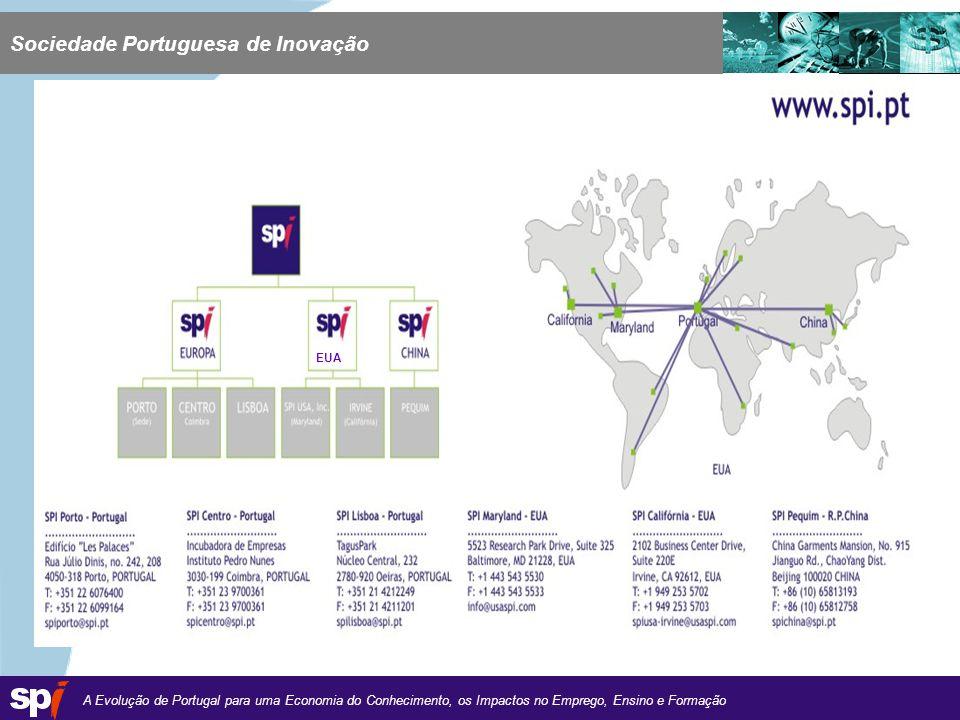 A Evolução de Portugal para uma Economia do Conhecimento, os Impactos no Emprego, Ensino e Formação 1,6/1,6 cm EUA Sociedade Portuguesa de Inovação