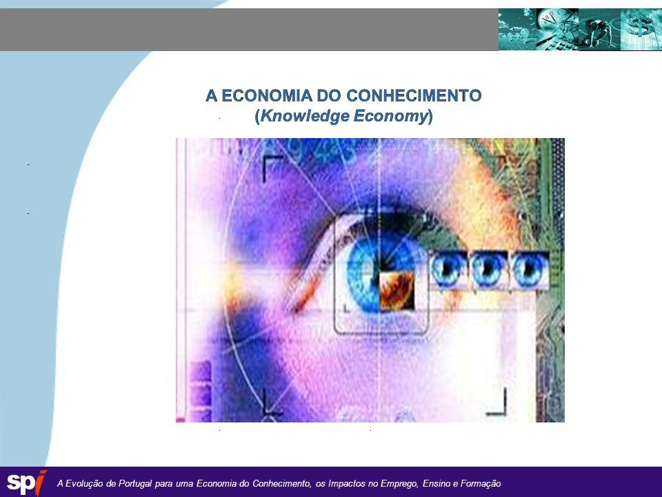A Evolução de Portugal para uma Economia do Conhecimento, os Impactos no Emprego, Ensino e Formação 1,6/1,6 cm A ECONOMIA DO CONHECIMENTO (Knowledge Economy)
