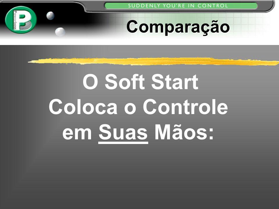 Comparação Comparação O Soft Start Coloca o Controle em Suas Mãos: