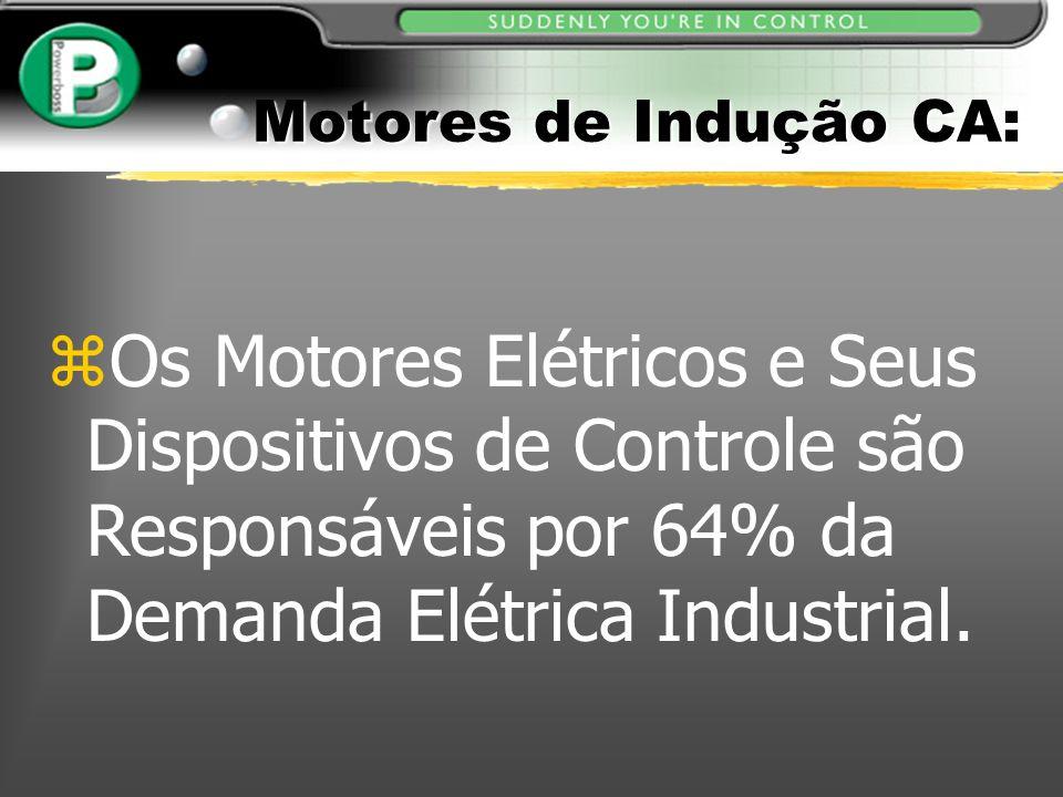 Motores de Indução CA: zOs Motores Elétricos e Seus Dispositivos de Controle são Responsáveis por 64% da Demanda Elétrica Industrial.
