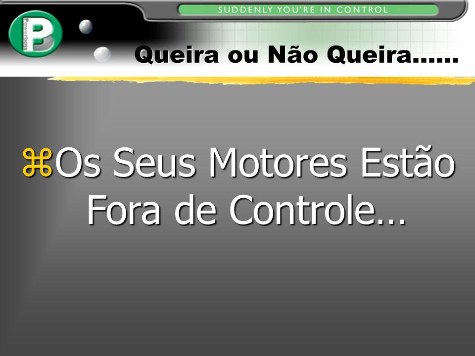 Queira ou Não Queira…... zOs Seus Motores Estão Fora de Controle…