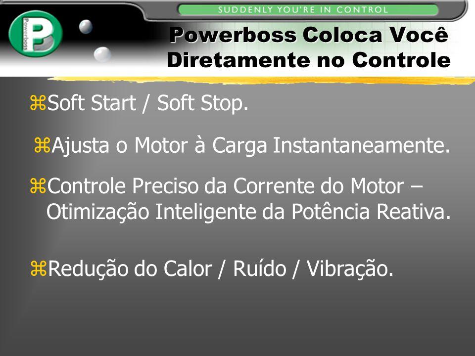 zAjusta o Motor à Carga Instantaneamente. zControle Preciso da Corrente do Motor – Otimização Inteligente da Potência Reativa. zSoft Start / Soft Stop