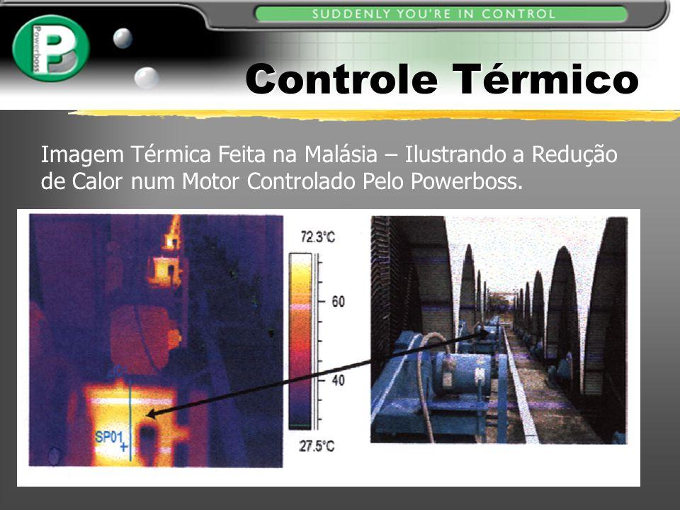 Imagem Térmica Feita na Malásia – Ilustrando a Redução de Calor num Motor Controlado Pelo Powerboss. Controle Térmico