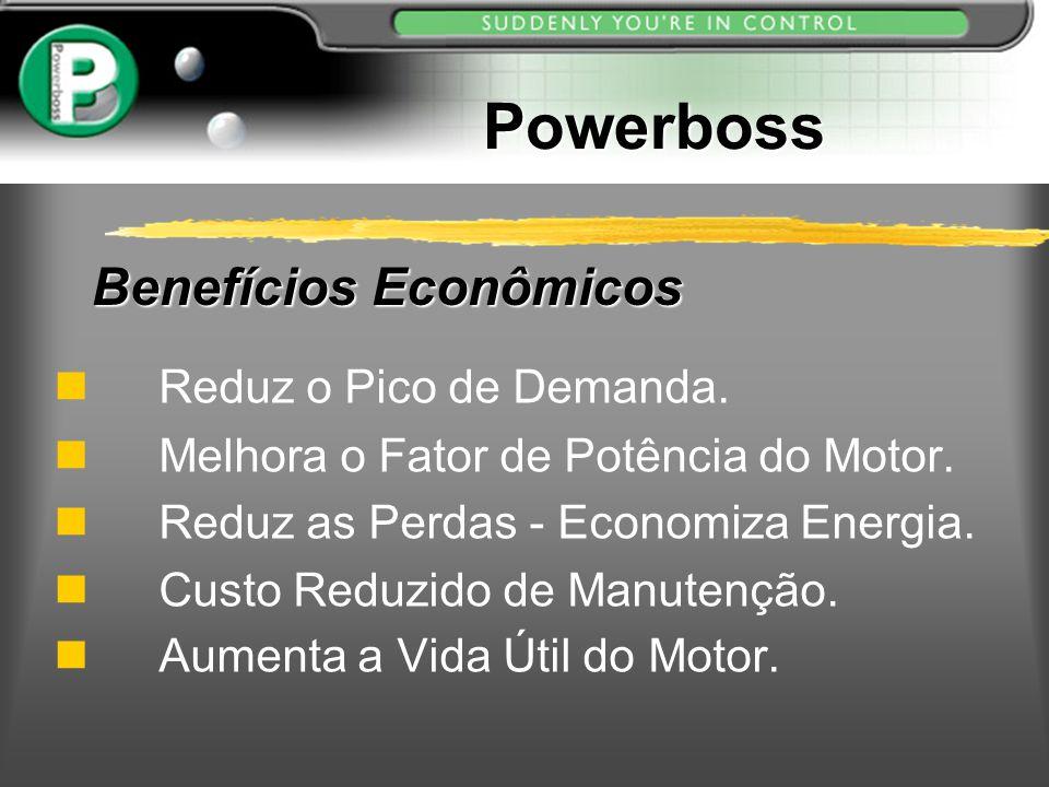 Benefícios Econômicos Reduz o Pico de Demanda. n Melhora o Fator de Potência do Motor. n Reduz as Perdas - Economiza Energia. n Custo Reduzido de Manu