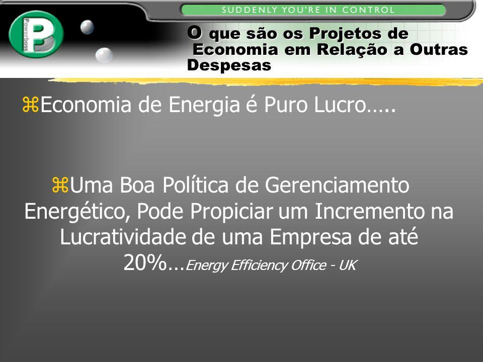 O que são os Projetos de Economia em Relação a Outras Despesas zEconomia de Energia é Puro Lucro….. zUma Boa Política de Gerenciamento Energético, Pod