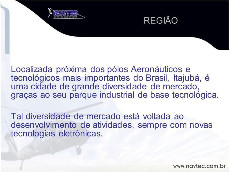 Localizada próxima dos pólos Aeronáuticos e tecnológicos mais importantes do Brasil, Itajubá, é uma cidade de grande diversidade de mercado, graças ao seu parque industrial de base tecnológica.