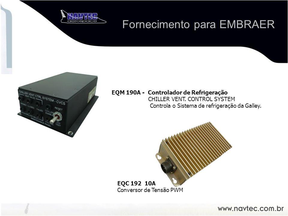 EQM 190A - Controlador de Refrigeração CHILLER VENT. CONTROL SYSTEM Controla o Sistema de refrigeração da Galley. EQC 192 10APWM Conversor de Tensão P