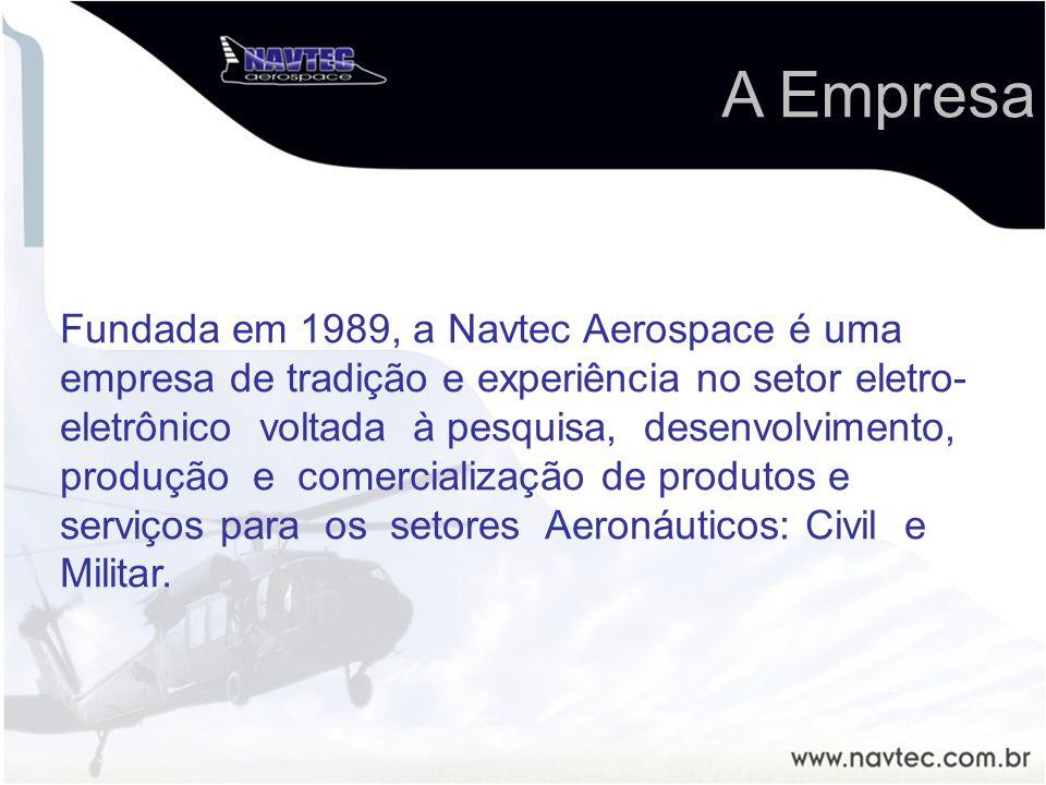 Fundada em 1989, a Navtec Aerospace é uma empresa de tradição e experiência no setor eletro- eletrônico voltada à pesquisa, desenvolvimento, produção