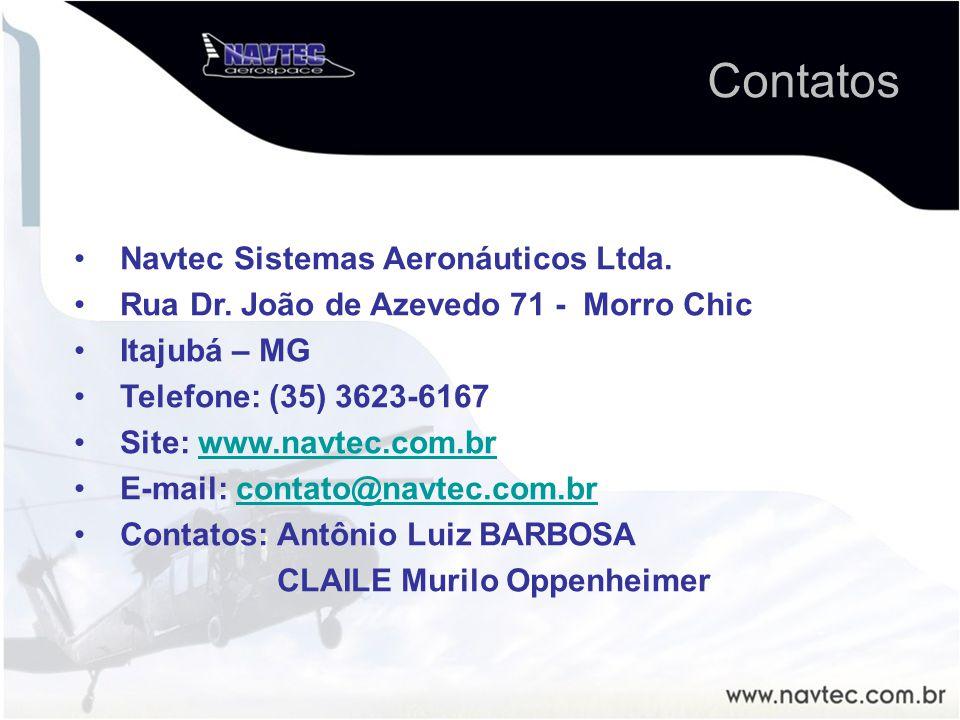 Navtec Sistemas Aeronáuticos Ltda. Rua Dr. João de Azevedo 71 - Morro Chic Itajubá – MG Telefone: (35) 3623-6167 Site: www.navtec.com.brwww.navtec.com