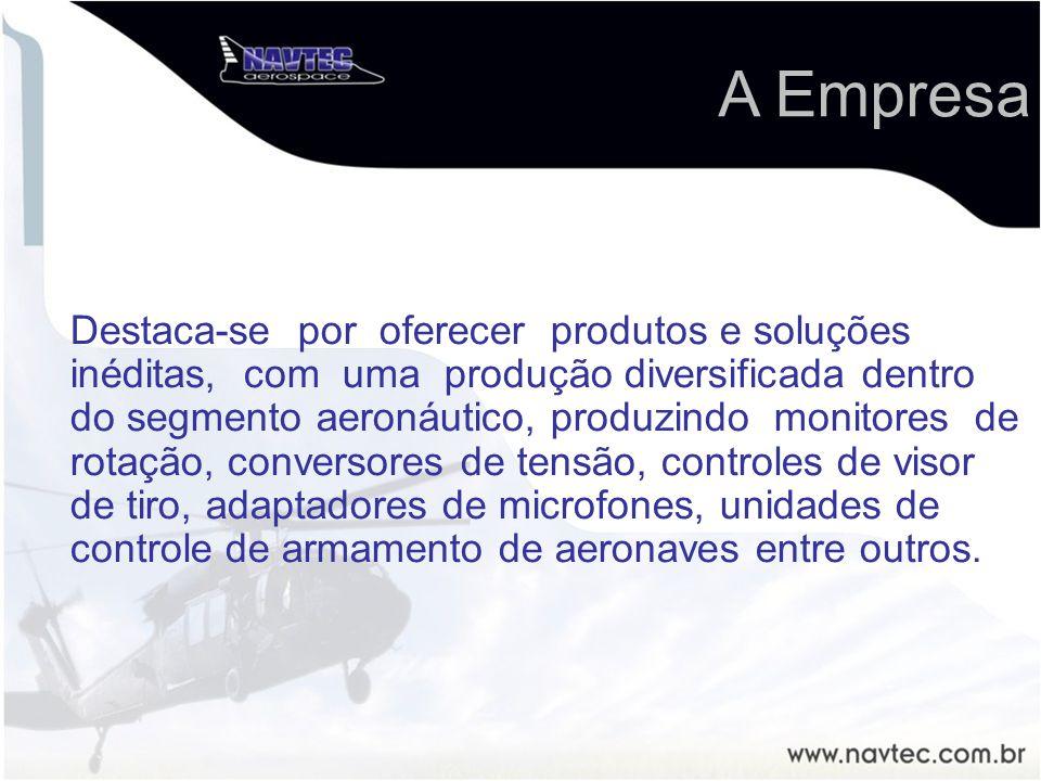 Destaca-se por oferecer produtos e soluções inéditas, com uma produção diversificada dentro do segmento aeronáutico, produzindo monitores de rotação,