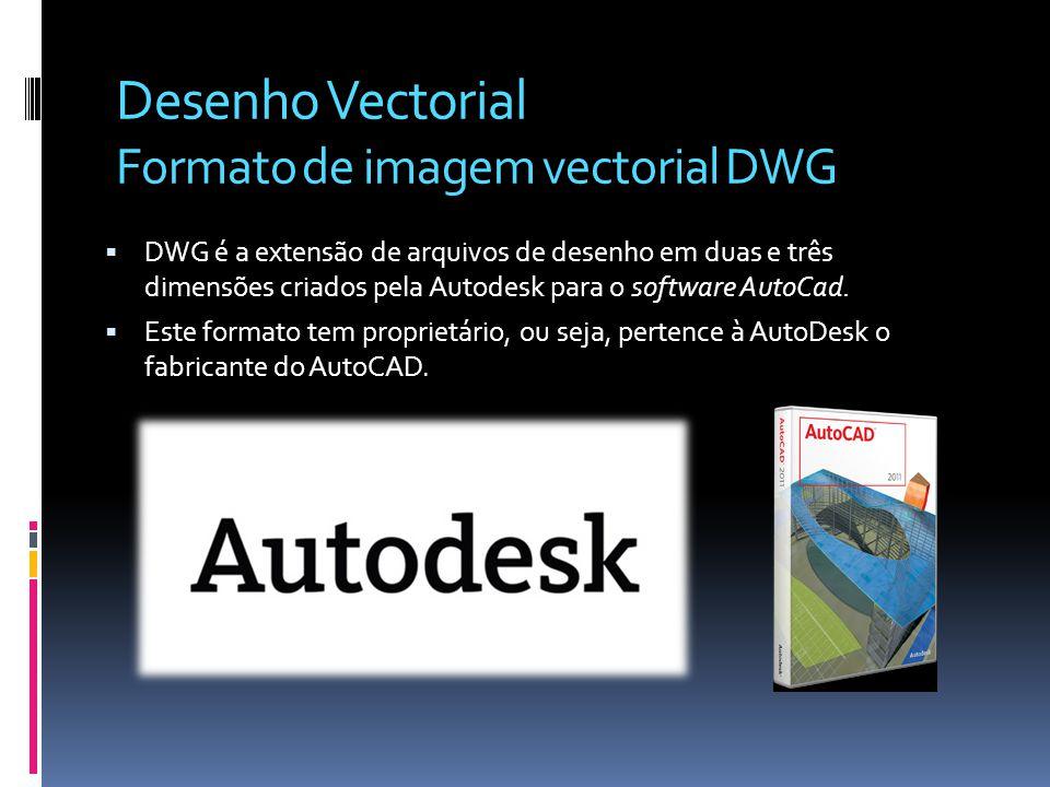 Desenho Vectorial Formato de imagem vectorial DWG DWG é a extensão de arquivos de desenho em duas e três dimensões criados pela Autodesk para o softwa