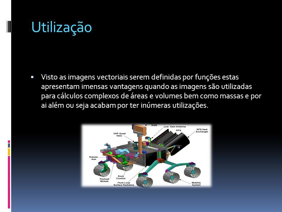 Utilização Visto as imagens vectoriais serem definidas por funções estas apresentam imensas vantagens quando as imagens são utilizadas para cálculos c