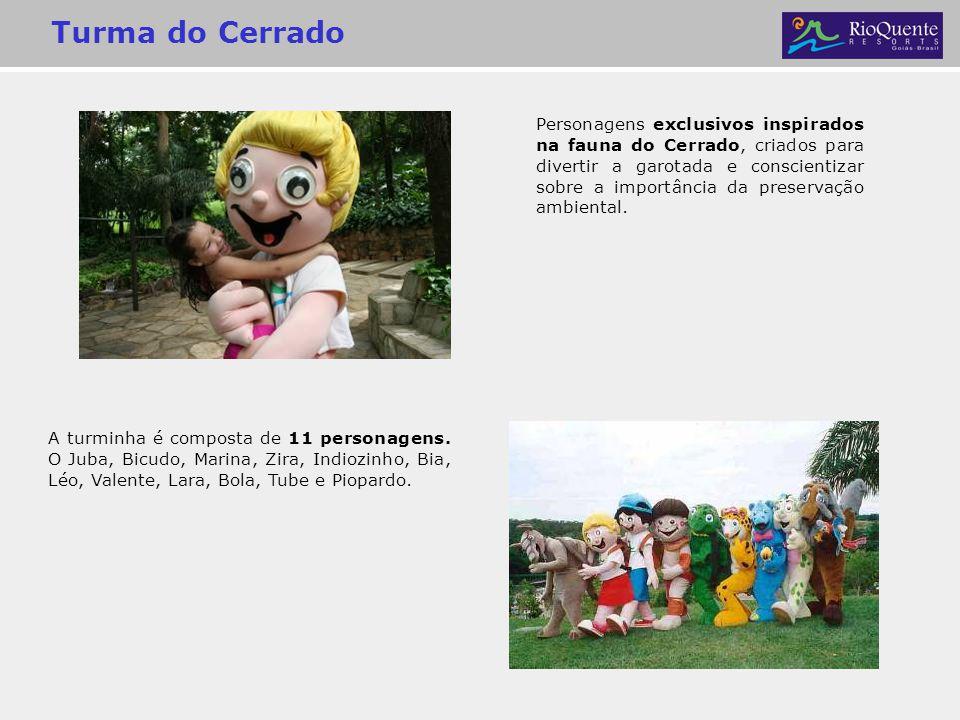 Turma do Cerrado A turminha é composta de 11 personagens. O Juba, Bicudo, Marina, Zira, Indiozinho, Bia, Léo, Valente, Lara, Bola, Tube e Piopardo. Pe