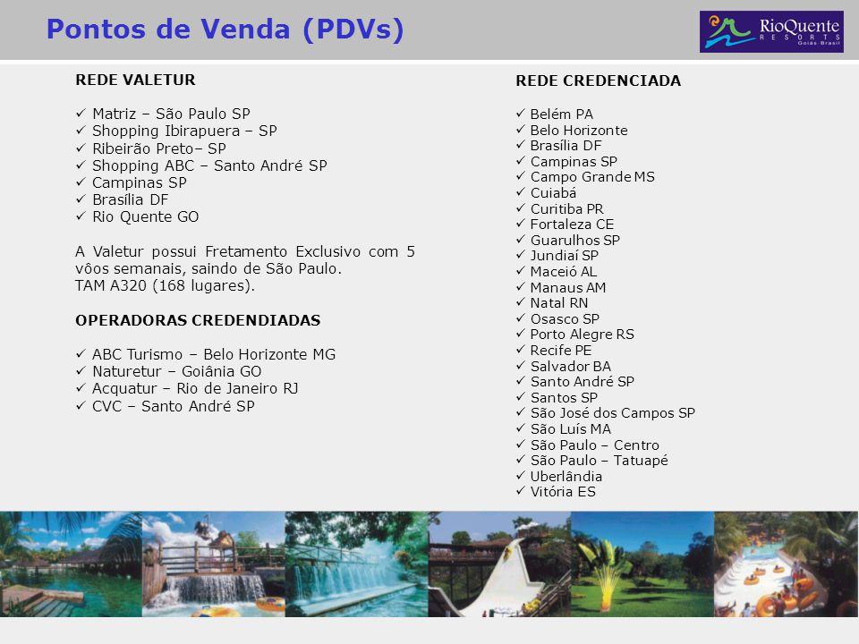 Pontos de Venda (PDVs) REDE VALETUR Matriz – São Paulo SP Shopping Ibirapuera – SP Ribeirão Preto– SP Shopping ABC – Santo André SP Campinas SP Brasíl
