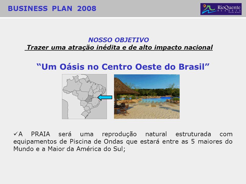 Um Oásis no Centro Oeste do Brasil A PRAIA será uma reprodução natural estruturada com equipamentos de Piscina de Ondas que estará entre as 5 maiores