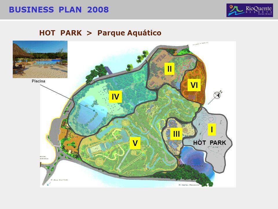 HOT PARK > Parque Aquático I HOT PARK II III V VI BUSINESS PLAN 2008 Piscina IV