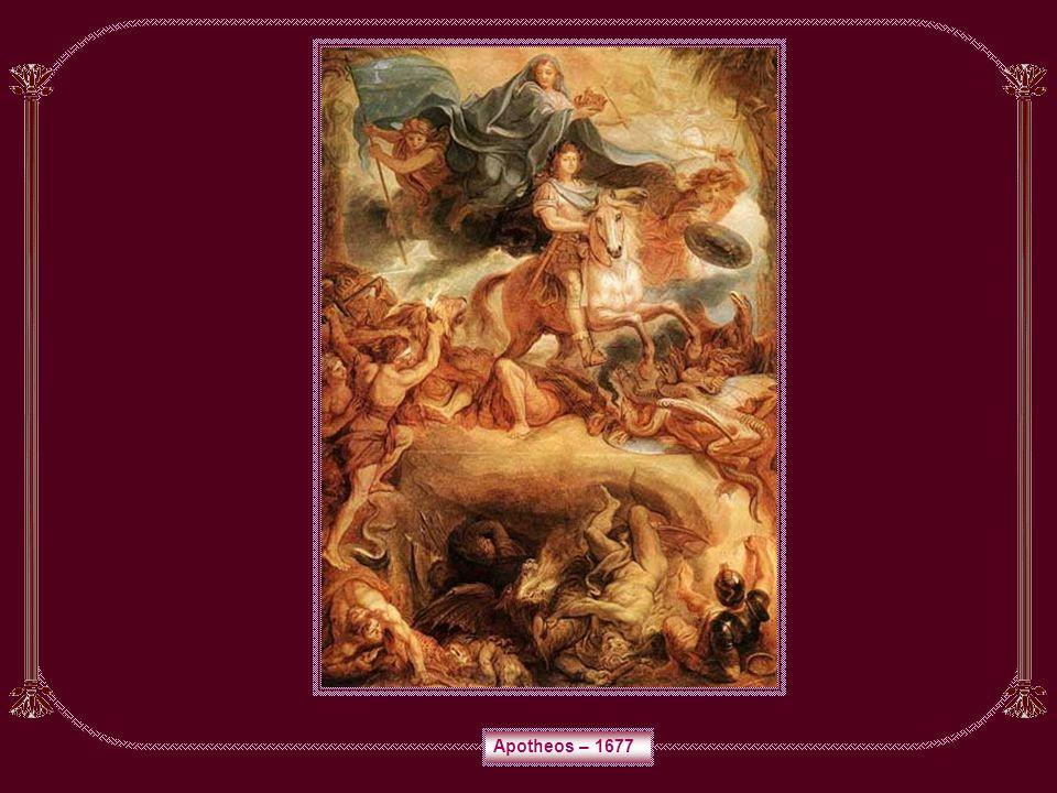 CHARLES LE BRUN Pintor e decorador francês, nasceu em Paris a 24 de fevereiro de 1619 e morreu na mesma cidade a 12 de fevereiro de 1690. Ainda jovem
