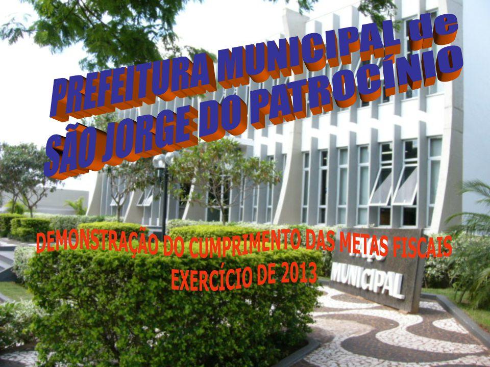 DEMONSTRAÇÃO DO CUMPRIMENTO DAS METAS FISCAIS JANEIRO A AGOSTO DE 2013 PREVISÃO ORÇAMENTÁRIA ANUAL 2013 21.735.031,70 ARRECADAÇÃO 14.064.685,67 DESPESAS 13.639.730,72