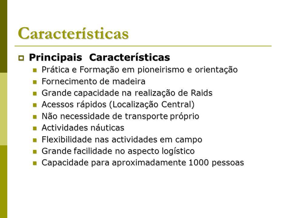 Características Principais Características Principais Características Prática e Formação em pioneirismo e orientação Prática e Formação em pioneirismo