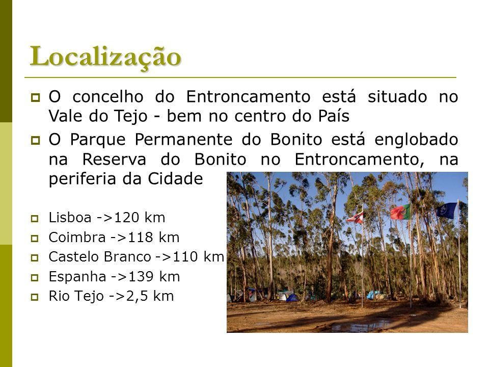 Localização Lisboa ->120 km Coimbra ->118 km Castelo Branco ->110 km Espanha ->139 km Rio Tejo ->2,5 km O concelho do Entroncamento está situado no Va