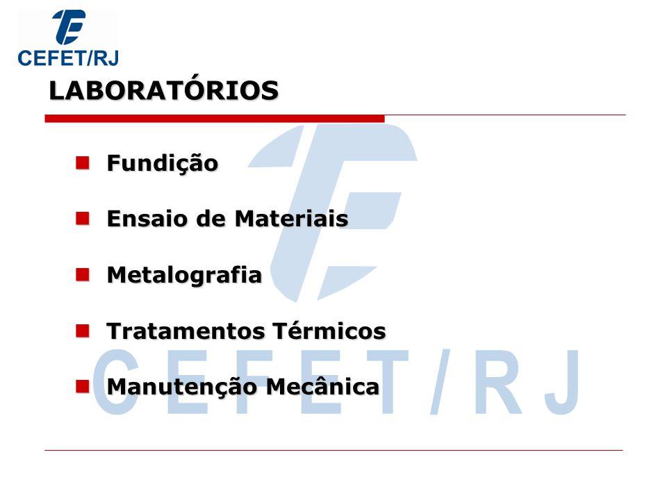 LABORATÓRIOS Manutenção Eletromecânica Manutenção Eletromecânica Automação Hidráulica, Pneumática e Robótica Automação Hidráulica, Pneumática e Robóti