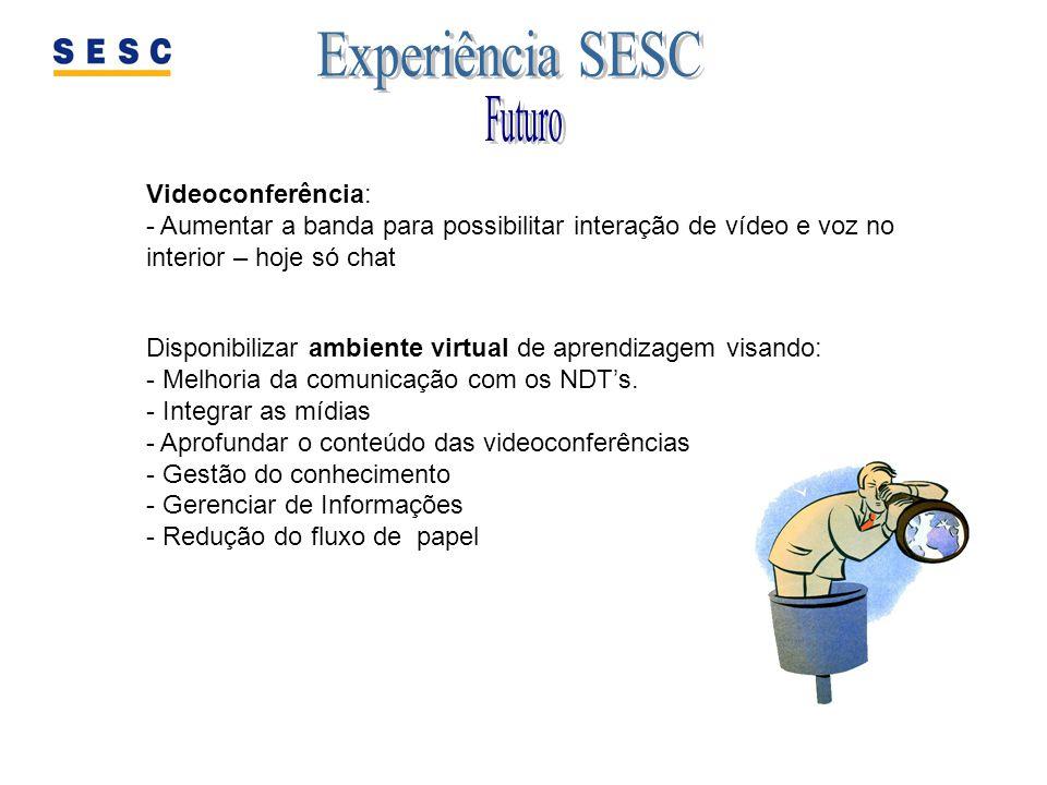Disponibilizar ambiente virtual de aprendizagem visando: - Melhoria da comunicação com os NDTs. - Integrar as mídias - Aprofundar o conteúdo das video