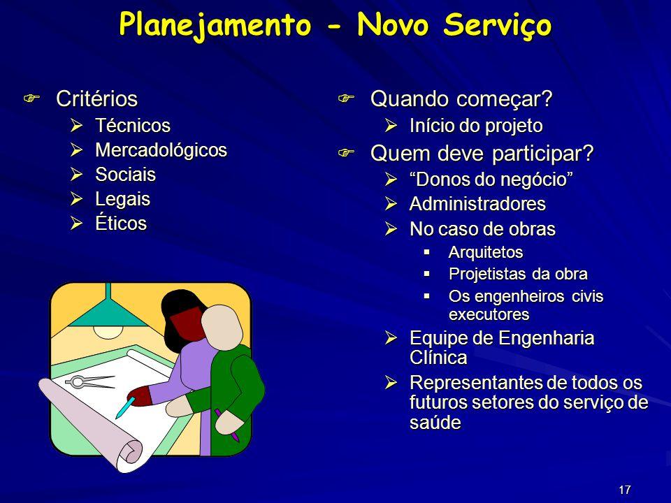 16 O PLANEJAMENTO cuidadoso e a organização dos serviços de saúde melhoram as condições dos pacientes, diminuindo o tempo gasto no serviço, e conseqüentemente diminuindo o custo do sistema