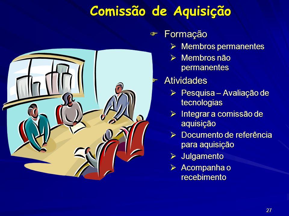 26 Instituir uma Comissão Permanente de Auxilio à Aquisição Que caminho seguir?