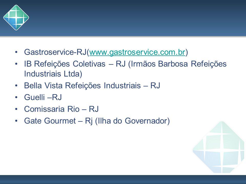 Gastroservice-RJ(www.gastroservice.com.br)www.gastroservice.com.br IB Refeições Coletivas – RJ (Irmãos Barbosa Refeições Industriais Ltda) Bella Vista