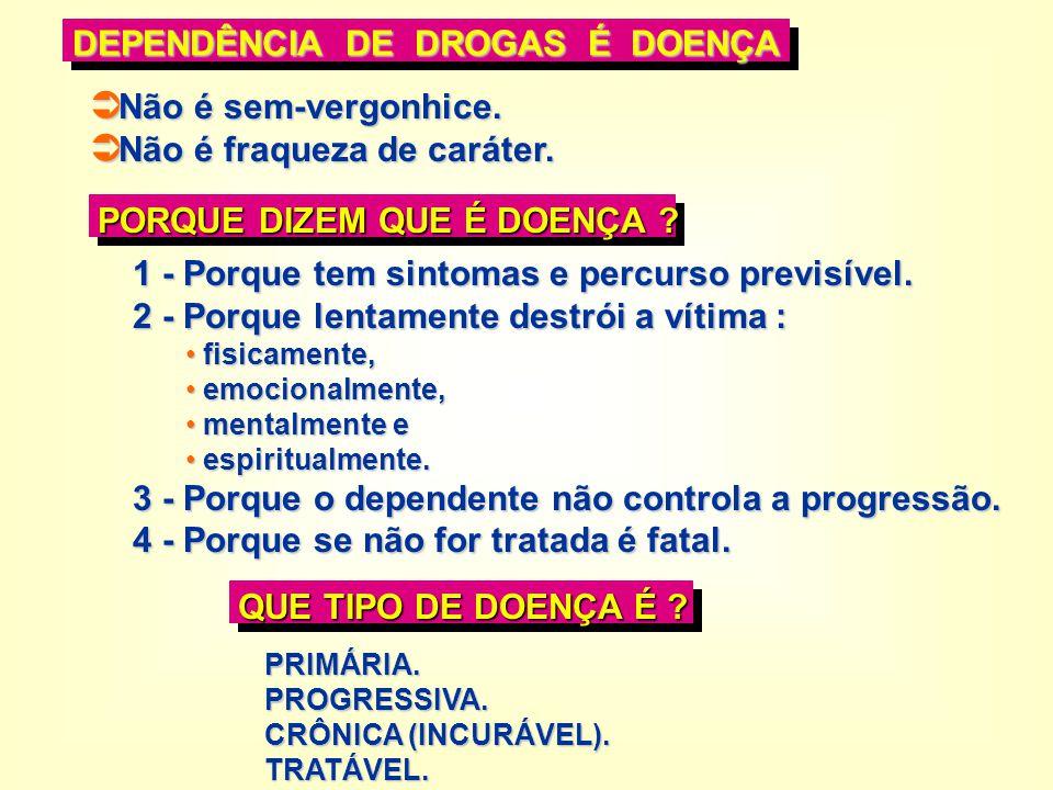 PRIMÁRIA: ORGANISMO PREDISPOSTO + ERRO PEDAGÓGICO + USO DO QUÍMICO = D.