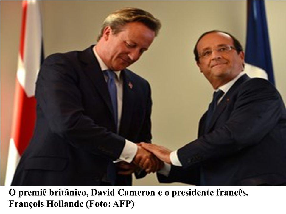 O premiê britânico, David Cameron e o presidente francês, François Hollande (Foto: AFP)