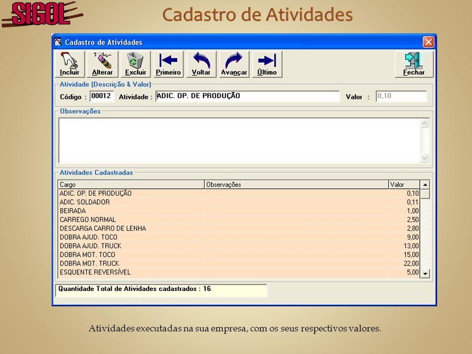 Banco de Dados com todas as informações dos seus funcionários