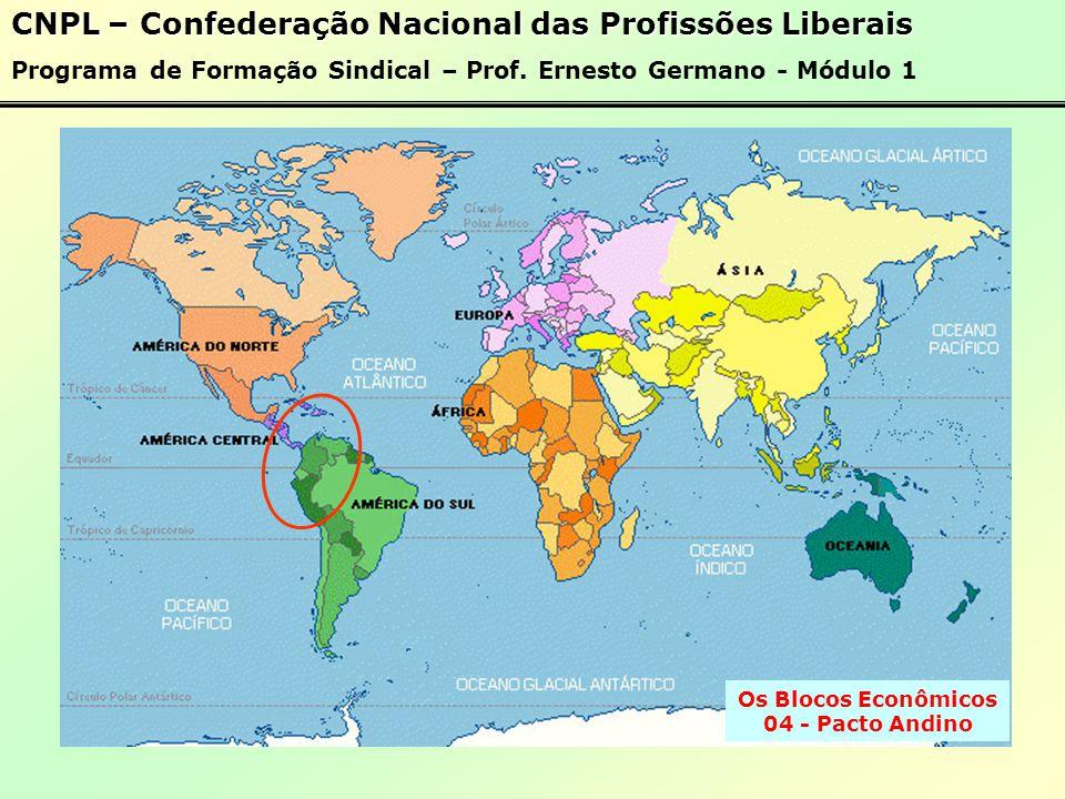 Os Blocos Econômicos 03 - NAFTA CNPL – Confederação Nacional das Profissões Liberais Programa de Formação Sindical – Prof.
