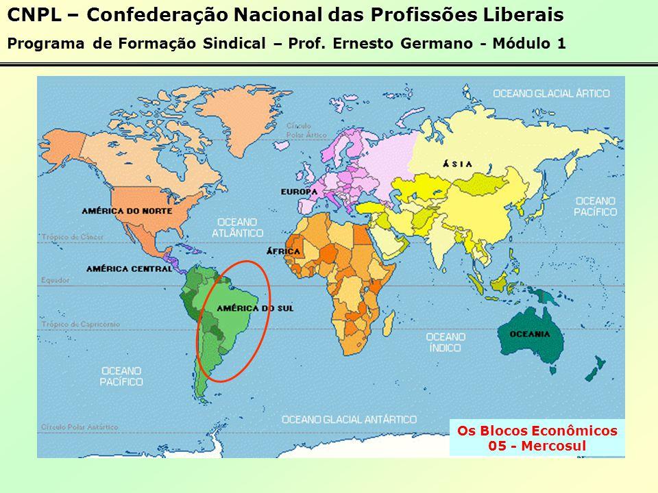 Os Blocos Econômicos 04 - Pacto Andino CNPL – Confederação Nacional das Profissões Liberais Programa de Formação Sindical – Prof.