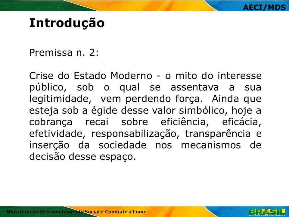 AECI/MDS Ministério do Desenvolvimento Social e Combate à Fome Portaria CGU 1613/2012 Art.