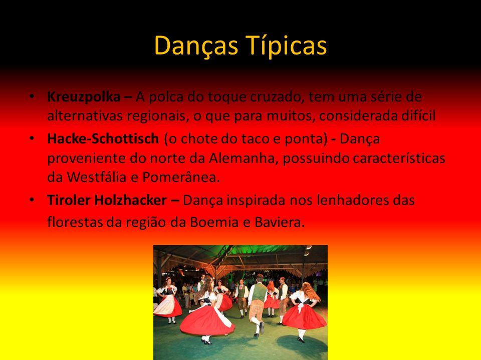 Danças Típicas Kreuzpolka – A polca do toque cruzado, tem uma série de alternativas regionais, o que para muitos, considerada difícil Hacke-Schottisch