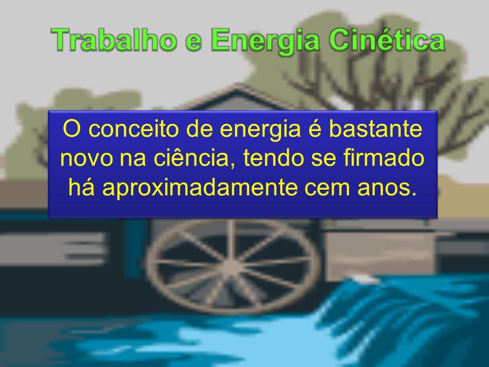 O conceito de energia é bastante novo na ciência, tendo se firmado há aproximadamente cem anos.
