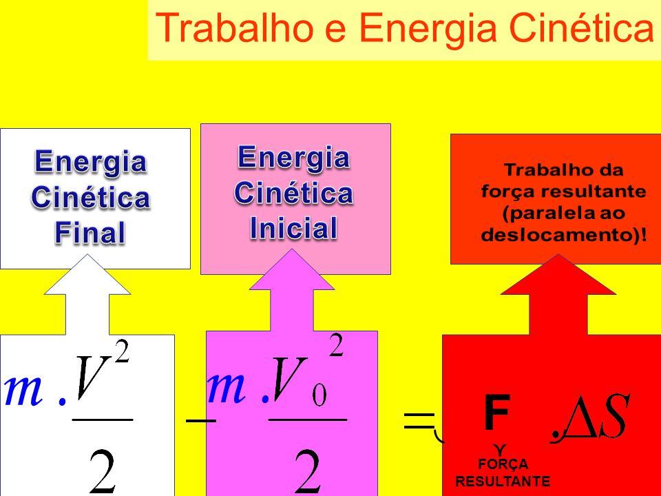 Trabalho e Energia Cinética m. FORÇA RESULTANTE F