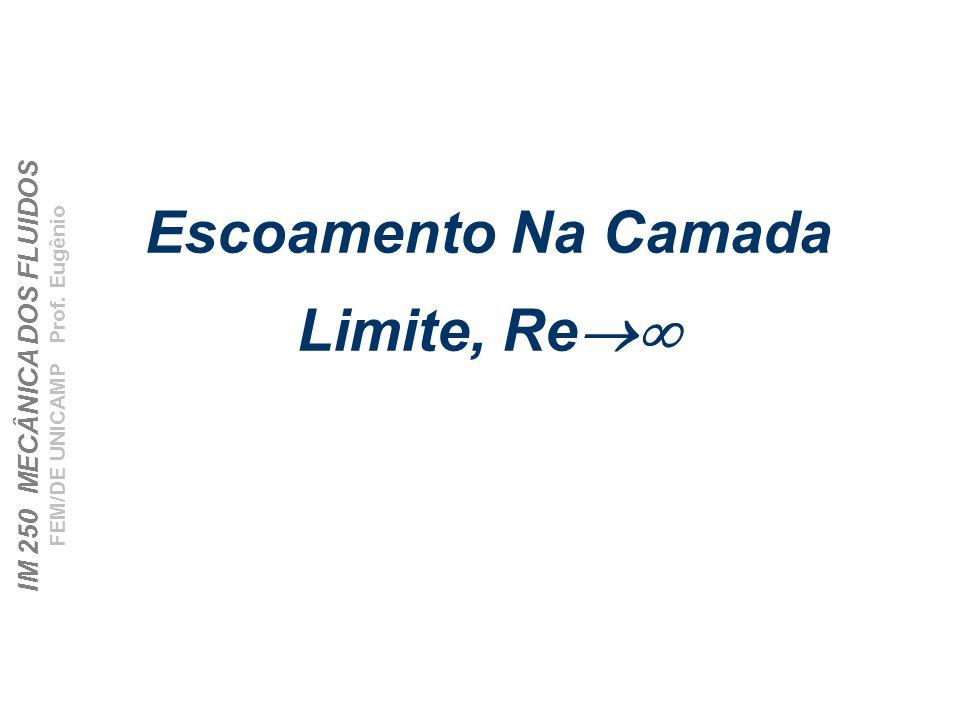 IM 250 MECÂNICA DOS FLUIDOS FEM/DE UNICAMP Prof. Eugênio Escoamento Na Camada Limite, Re
