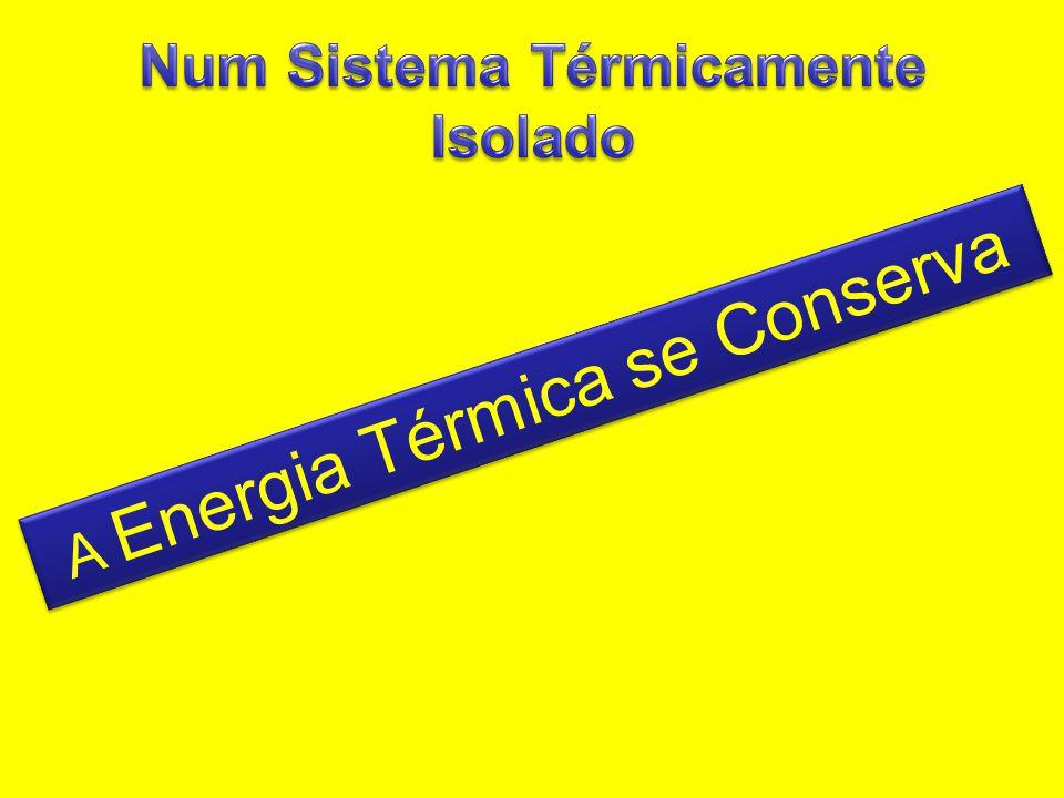A Energia Térmica se Conserva