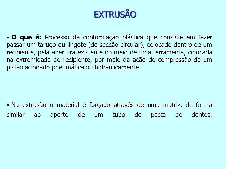EXTRUSÃO A FRIO O processo que combina operações de extrusão direta, indireta e forjamento.