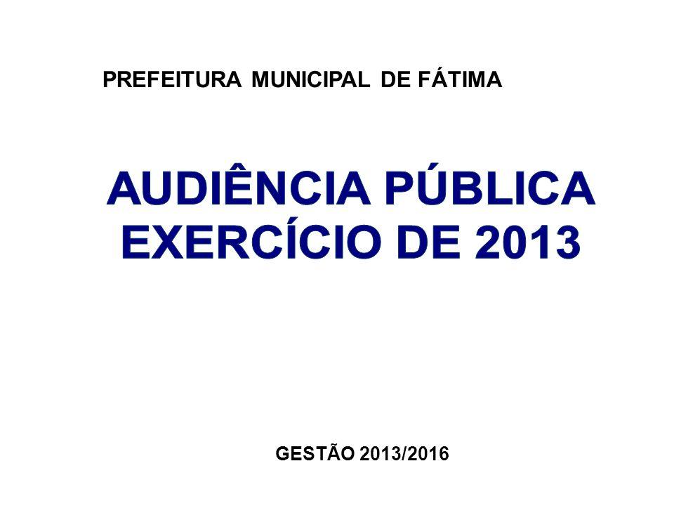 PREFEITURA MUNICIPAL DE FÁTIMA GESTÃO 2013/2016