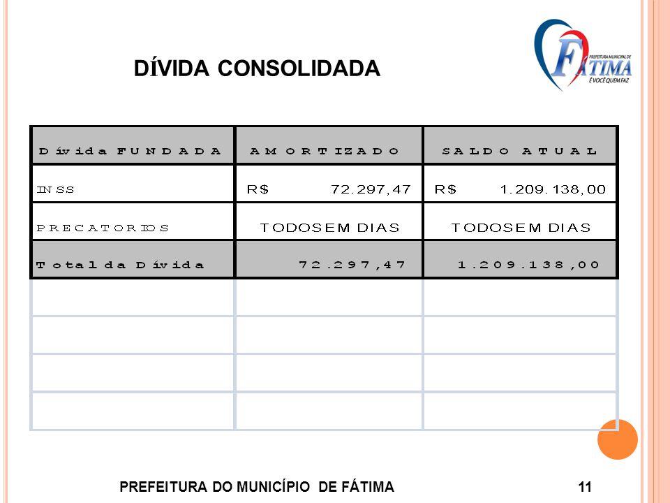 D Í VIDA CONSOLIDADA PREFEITURA DO MUNICÍPIO DE FÁTIMA 11